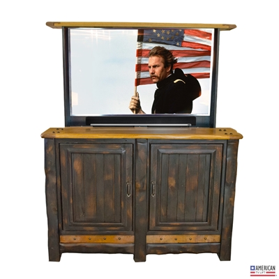 Rustic Ember TV Lift Cabinet